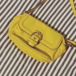 Yellow coach bag